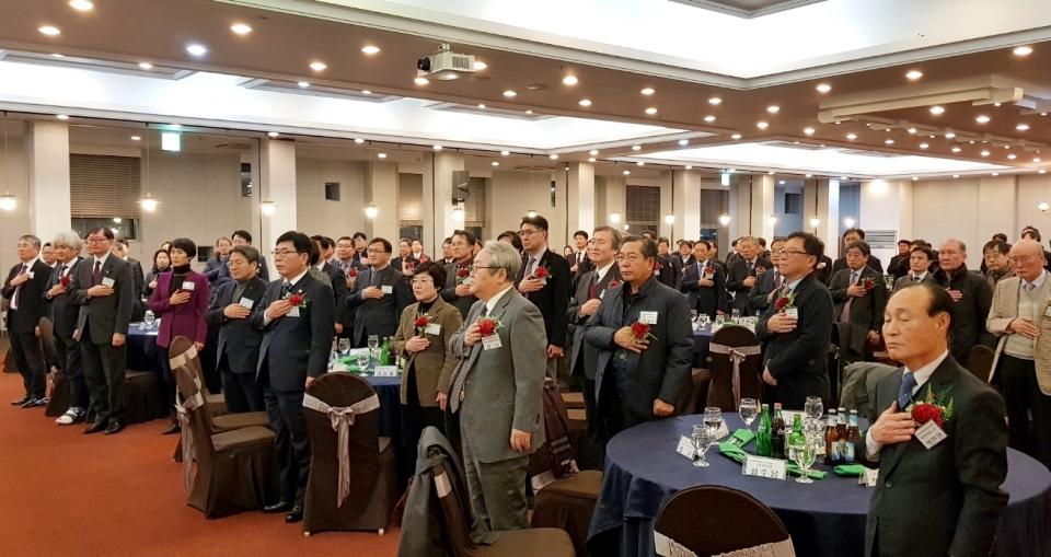 광주시의사회 신년인사회에는 의료계와 정관계 인사 150여 명이 참석했다.  [사진=광주시의사회 사무처]
